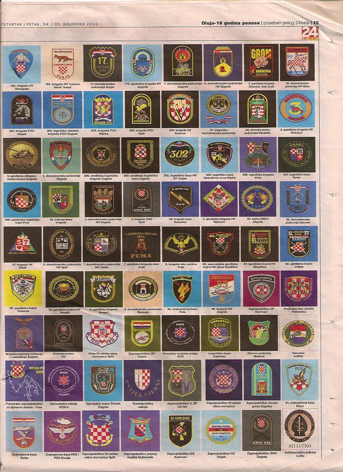 Abzeichen Wappen Armee Kroatien im Jugoslawienkrieg 3