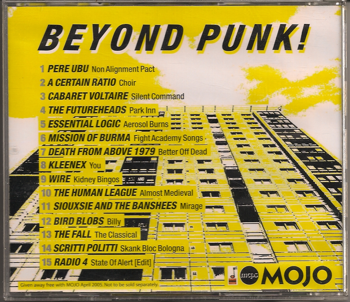 Playlist Beyond Punk CD Mojo April 2005