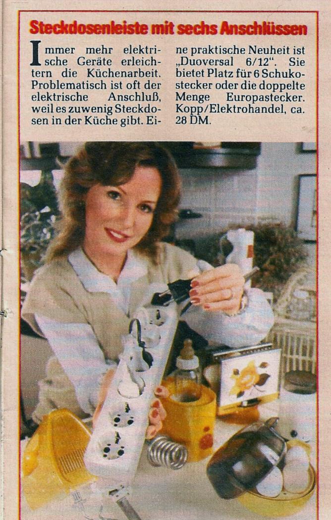 Steckdosenleiste sechs 1983