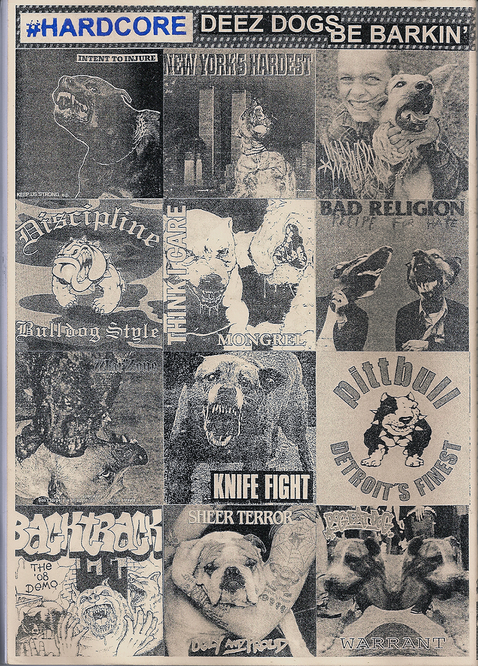 Hardcore record cover with dogs