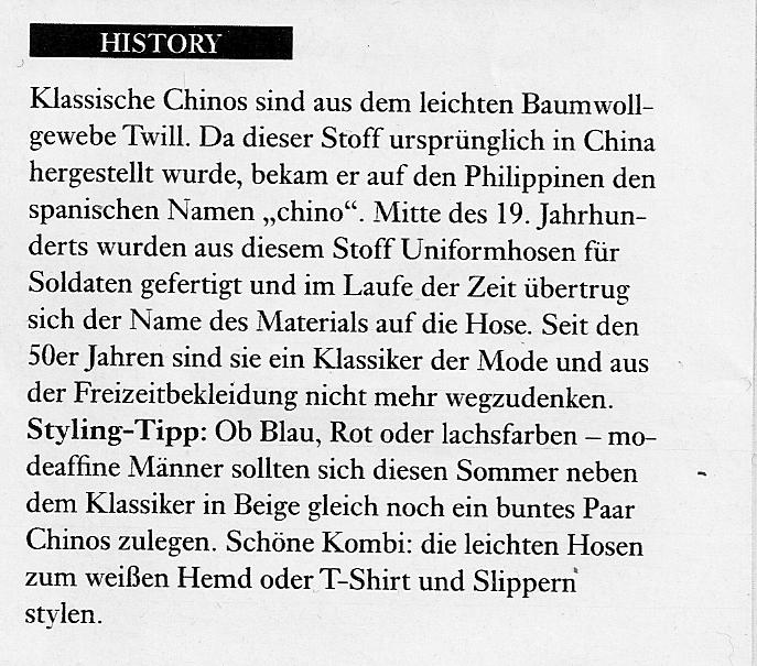 Die Geschichte der Chino Hose im zalando Magazin