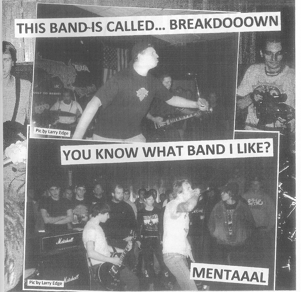 Mental and Breakdown in Powered Records Fanzine