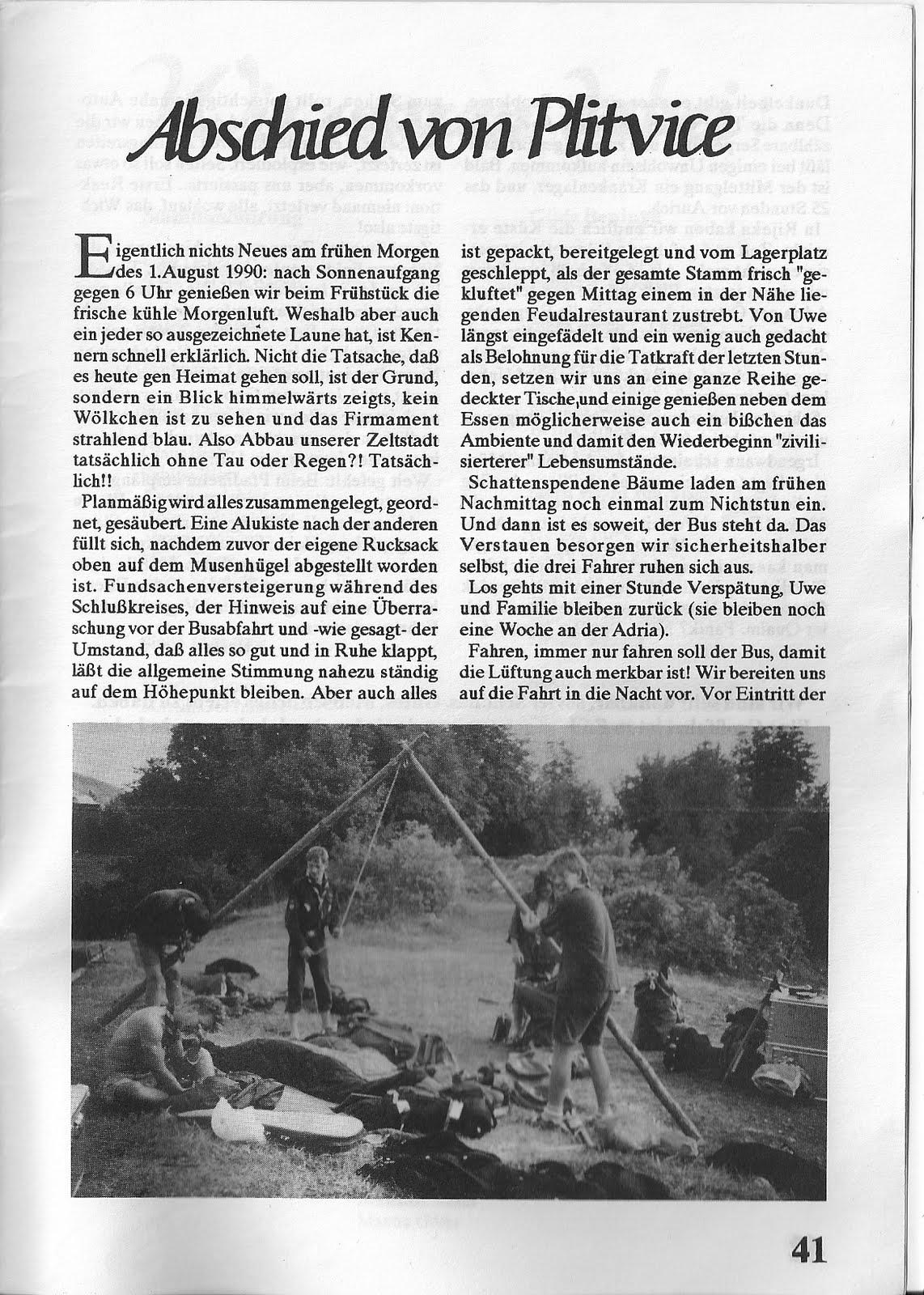 Günther Janßen beim Abbau Sommefahrt Vaganten Aurich 1990