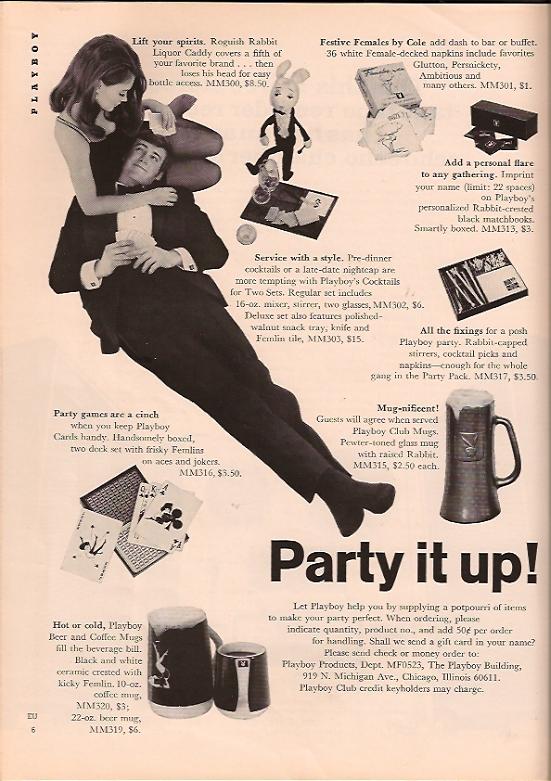 Playboy merchandise advertising March 1969