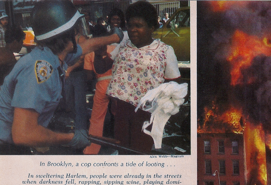 New York Blackout 1977 looter in Brooklyn Newsweek