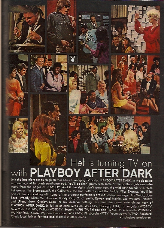 Playboy After Dark TV advertising March 1969