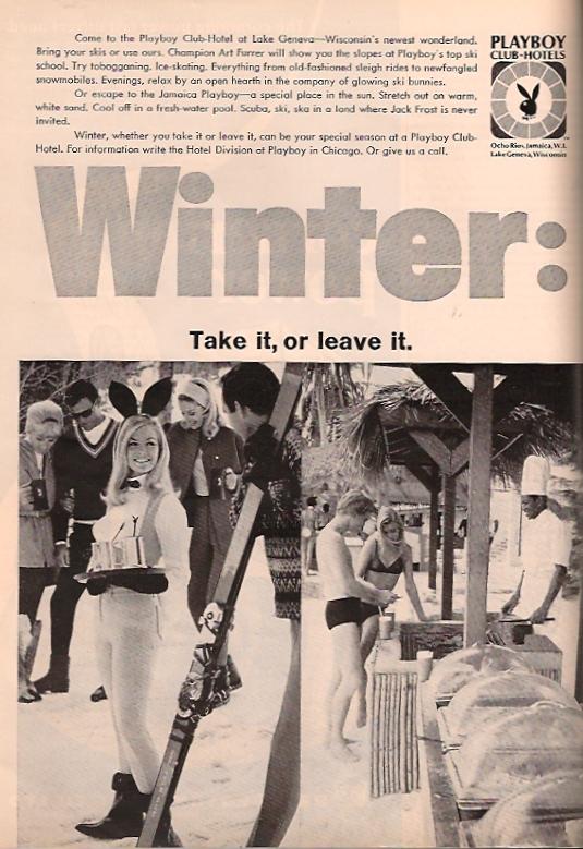 Playboy Club-Hotels advertising March 1969