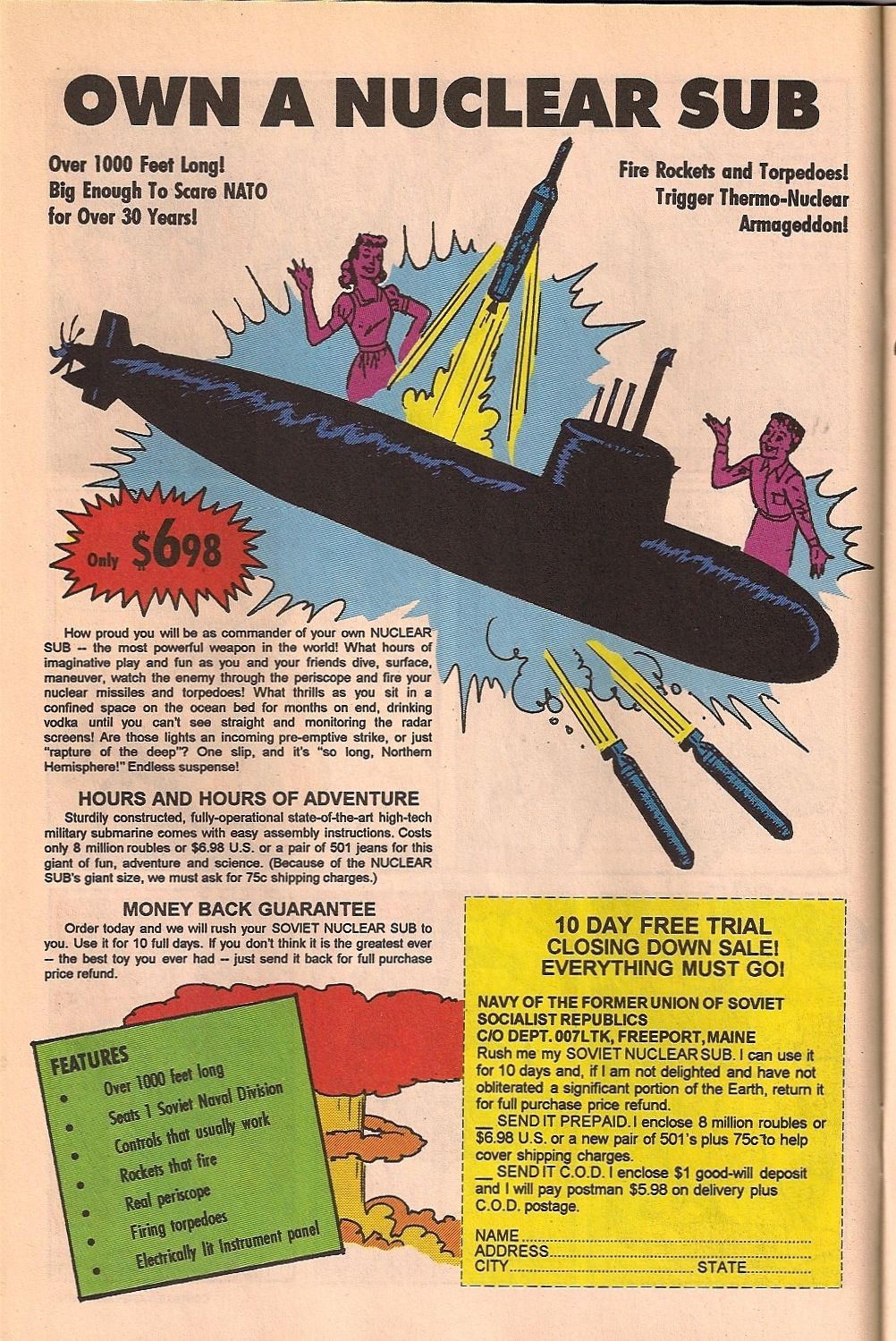 Alan Moore 1963 comic fake ad