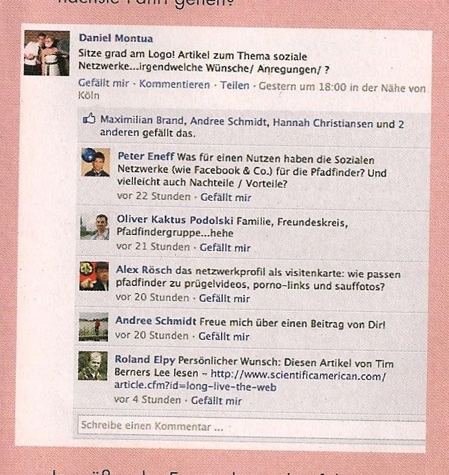 Facebook Feed Pfadfiner