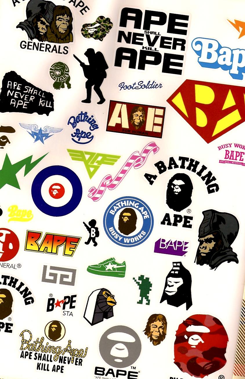 sticker sheet A Bathing Ape Autumn Winter 2006 Catalog