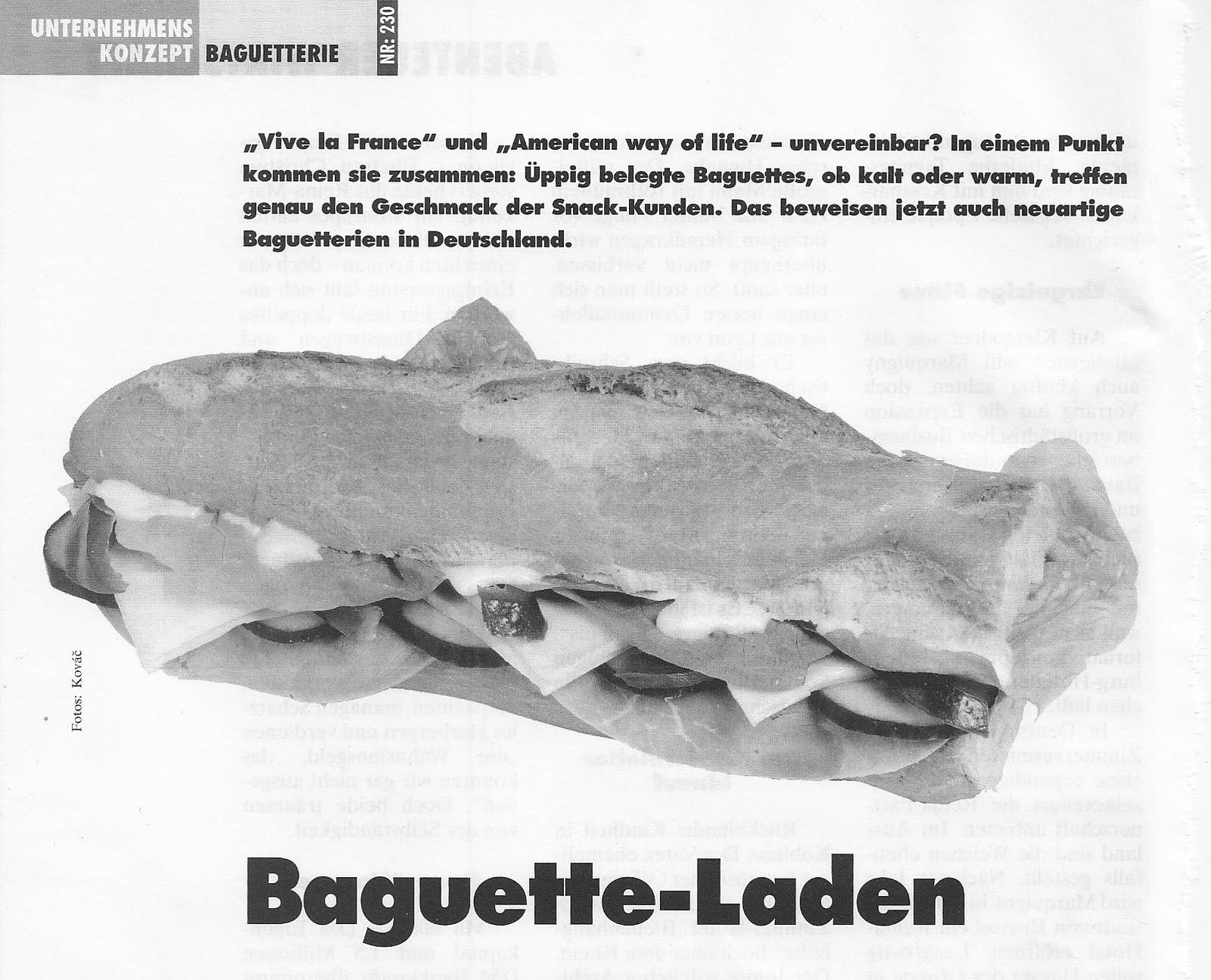 Geschäftsidee Baguette Laden