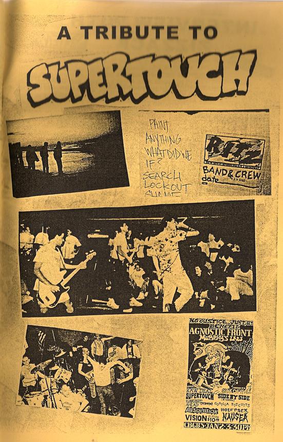 Supertouch in Triple B Records Fanzine