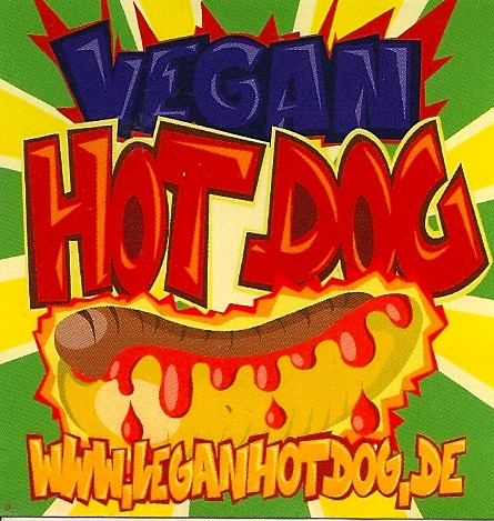 Vegan Hot Dog Dresden alter sticker