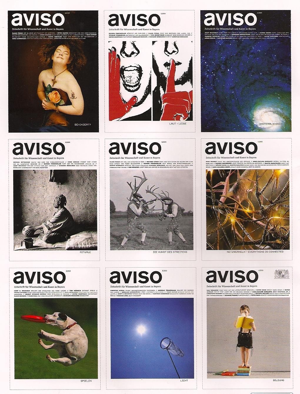 Titelbilder aviso Zeitschrift für Wissenschaft und Kunst in Bayern