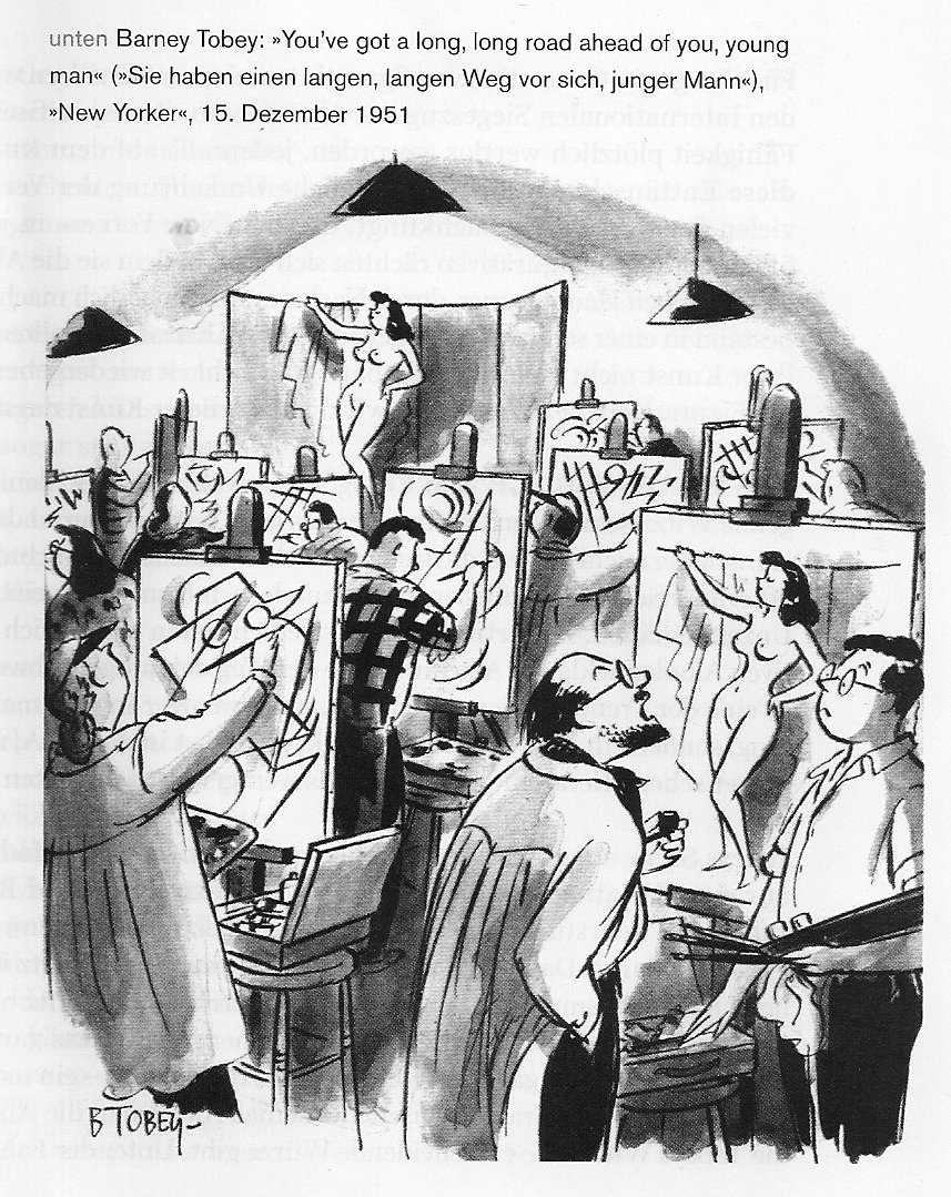 Artist cartoon in The New Yorker 1951 by Barney Tobey