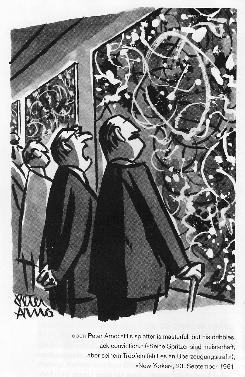 Artist cartoon in The New Yorker 1961 by Peter Arno