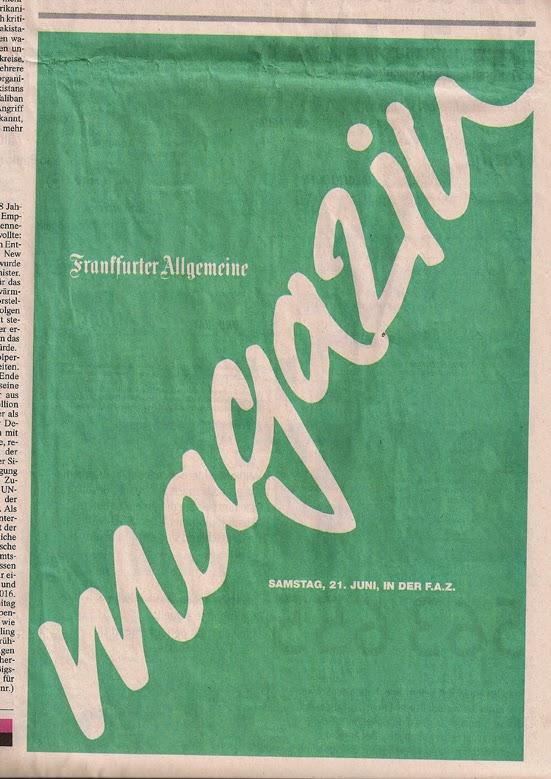 Frankfurter Allgemeine Magazin 2014 Werbung