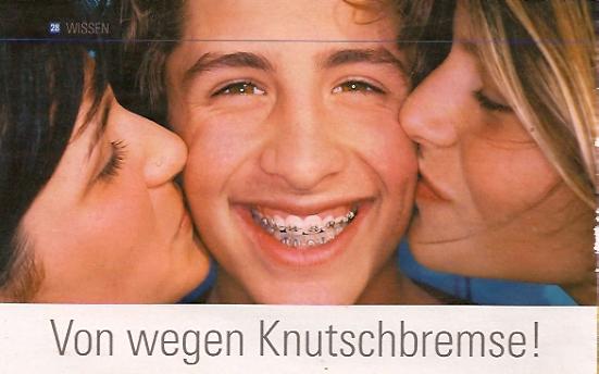 Knutschen mit Zahnspange