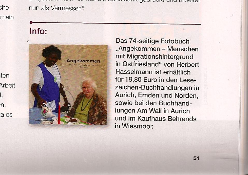 Herbert Hasselmann Angekommen Ostfriesland Magazin