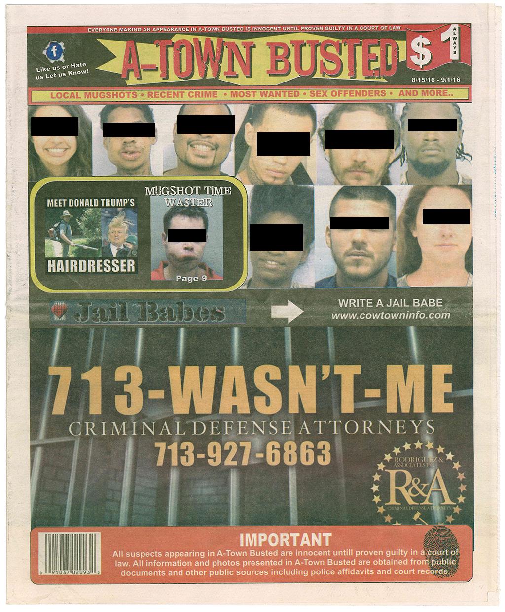Austin mugshot magazine